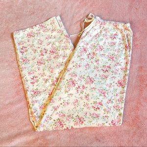 Vintage Pink Floral Pajama Bottoms